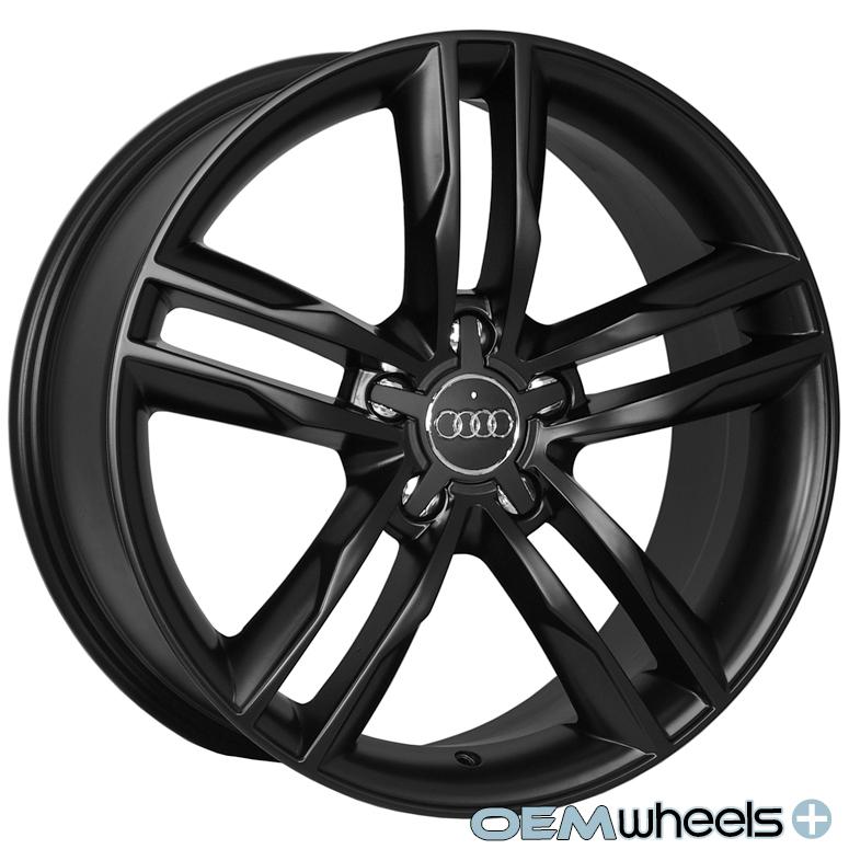 18 Matte Black s Line Style Wheels Fits Audi A8 A8L S8 D2 D3 D4 W12 Quattro Rims