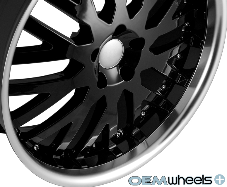 """20"""" Black Lip Wheels Fits Land Rover Range Rover Sport HSE Supercharged Rims"""