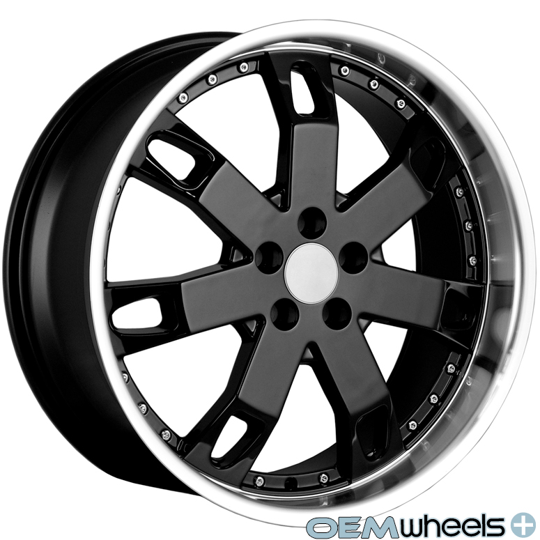 """22"""" Black Lip Wheels Fits Land Rover Range Rover Sport HSE Supercharged Rims"""