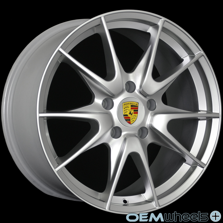 "19"" Silver GT2 Style Wheels Fits Porsche 911 Boxster Cayman 986 987 s Sport Rims"