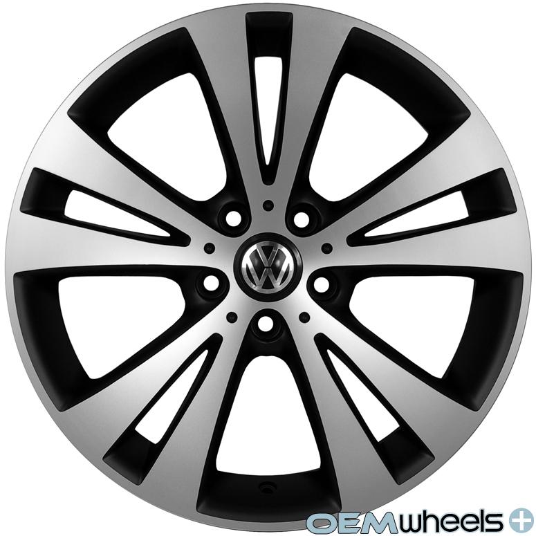 "18"" Black Euro Style Wheels Fits VW Golf R R32 GTI Jetta MK5 MKV MK6 Mkvi Rims"